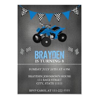 Chalkboard Four Wheeler, ATV Birthday Invitation