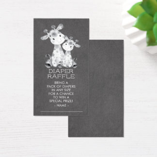 Chalkboard Giraffe Shower Diaper Raffle Ticket