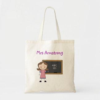 Chalkboard Girl - End of Year Teacher Gift Canvas Bags