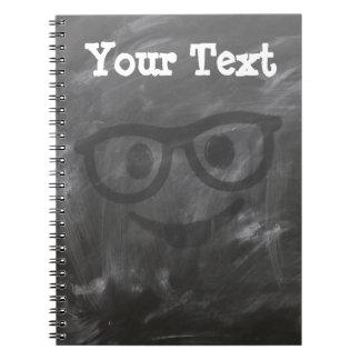 Chalkboard Glasses Smiley Notebook