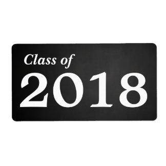 Chalkboard Graduate Class Of 2018 | Water Bottle
