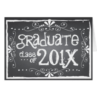 Chalkboard Graduation Class of 201x Greeting Card