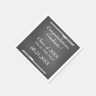 Chalkboard Graduation Paper Napkins Paper Napkin
