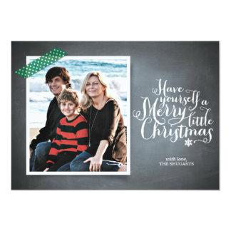 "Chalkboard Green Washi Tape Script Holiday Card 5"" X 7"" Invitation Card"