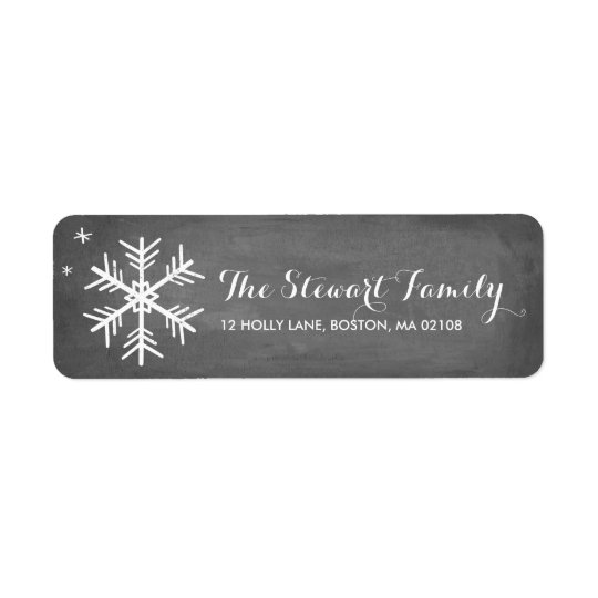 Chalkboard Greetings Collection Return Address Label
