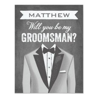 Chalkboard Groomsman | Groomsman Card