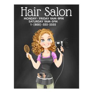 Chalkboard Hair Salon Promotional Flyer