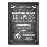 Chalkboard Halloween Costume Party 13 Cm X 18 Cm Invitation Card