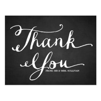 Chalkboard Hand Lettering Thank You Postcard