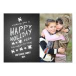 CHALKBOARD HAPPY HOLIDAY PHOTO CARD CUSTOM INVITATION