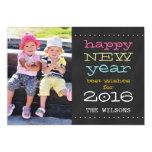 Chalkboard Happy New Year 2016 Holiday Photo Card 13 Cm X 18 Cm Invitation Card