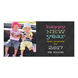 Chalkboard Happy New Year 2017 Holiday Photo Card