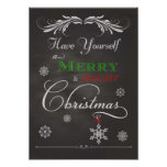 Chalkboard-Have Yourself a Merry & Bright Christma Print