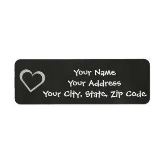 Chalkboard Heart Wedding Address Label