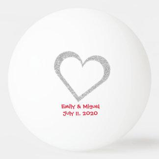 Chalkboard Heart Wedding Favor Ping Pong Ball
