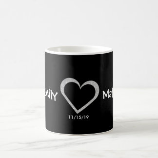 Chalkboard Heart Wedding Love Mug