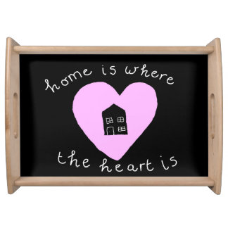 Chalkboard home is where the heart is design food tray