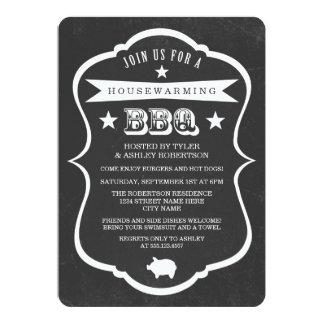 Chalkboard Housewarming BBQ Invitation