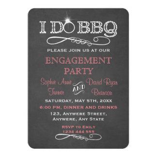 Chalkboard I DO BBQ Engagement Party Invitation