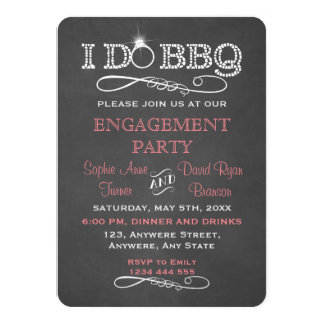 Chalkboard I DO BBQ Engagement Party Invitation