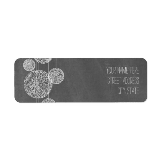 Chalkboard Inspired Globes Address Label