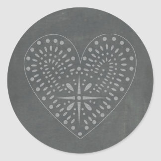 Chalkboard Inspired Heart Sticker