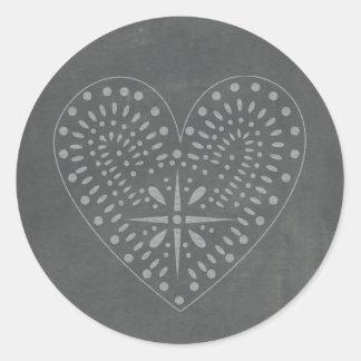 Chalkboard Inspired Heart Sticker