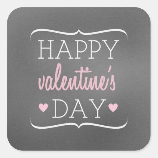 Chalkboard Inspired Valentine's Sticker