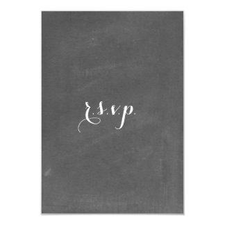 Chalkboard Inspired Wedding RSVP 9 Cm X 13 Cm Invitation Card
