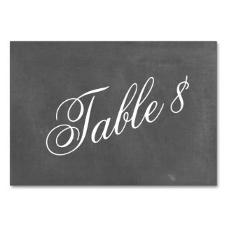 Chalkboard Inspired Wedding Table Number