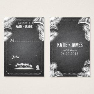 Chalkboard Island Destination Wedding Place Cards
