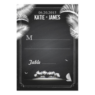 Chalkboard Island Destination Wedding Place Cards Pack Of Chubby Business Cards