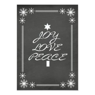 Chalkboard Joy Love Peace Christmas Party Invite