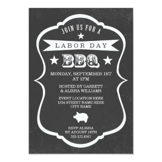 Chalkboard Labor Day Barbecue Invitation