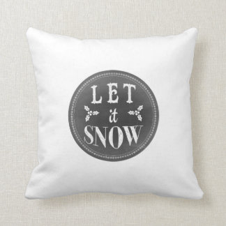 Chalkboard Let it Snow and Baby it's Cold Outside Cushion