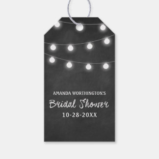 Chalkboard + Lights Bridal Shower Favor Gift Tags
