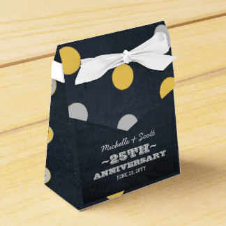 Chalkboard Lights Silver 25th Anniversary Favour Box