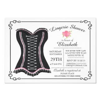 Chalkboard Lingerie Bridal Shower Invitation