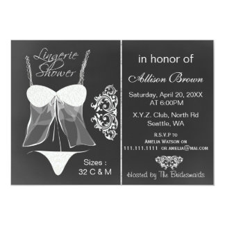 chalkboard Lingerie Shower  Invitations