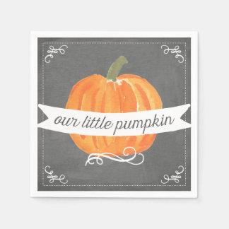 Chalkboard Little Pumpkin Birthday Napkin Disposable Serviette
