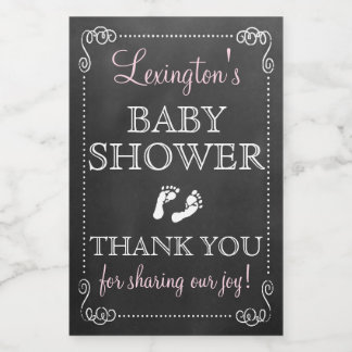 Chalkboard Look Baby Shower Thank You Guest Favor Food Label