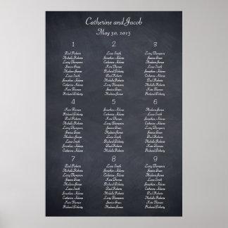 Chalkboard Look Table Seating Chart Print