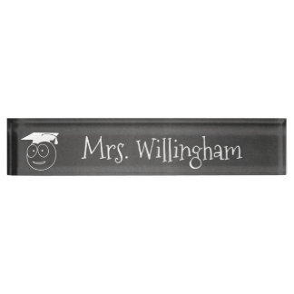 Chalkboard Look Teacher's Custom Desk Nameplate