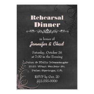 Chalkboard Look Wedding Rehearsal Dinner Custom 13 Cm X 18 Cm Invitation Card