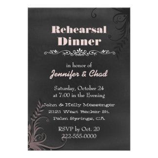 Chalkboard Look Wedding Rehearsal Dinner Custom Personalized Invites