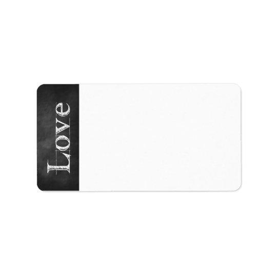 Chalkboard Love Address Labels
