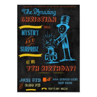 Chalkboard Magician Magic Party Invitations