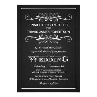 Chalkboard Marquee Wedding Invitations