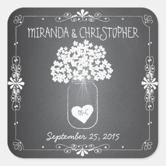 Chalkboard Mason Jar Personalised Favour Stickers