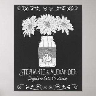 Chalkboard Mason Jar Personalized Poster